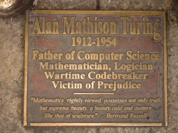 Sackville Park Turing plaque1